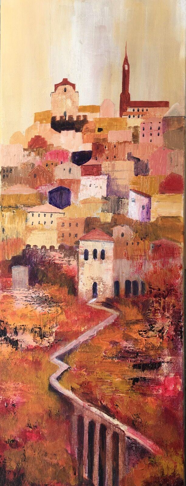 Italian town painting