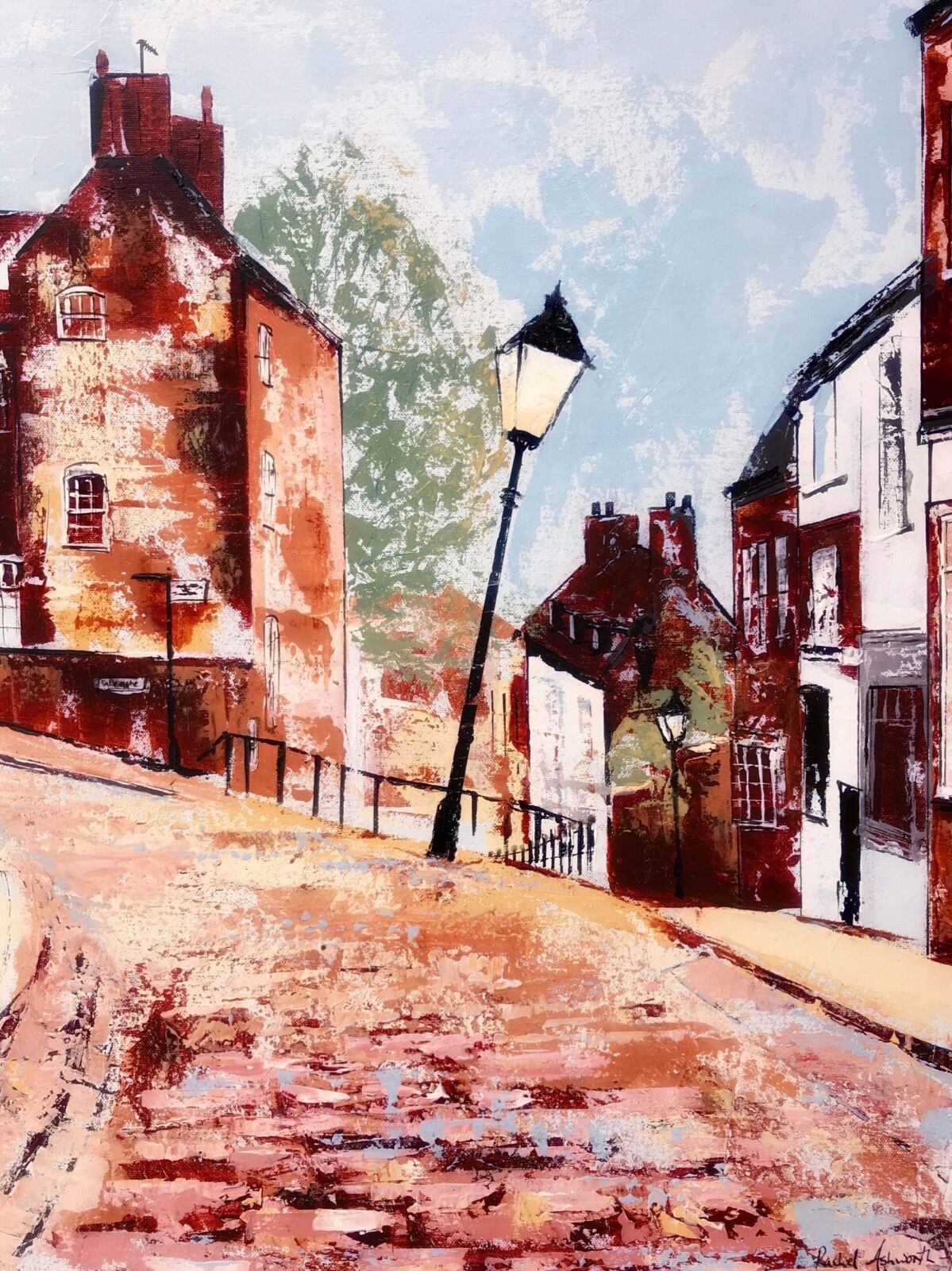 Steep Hill Lincoln painting