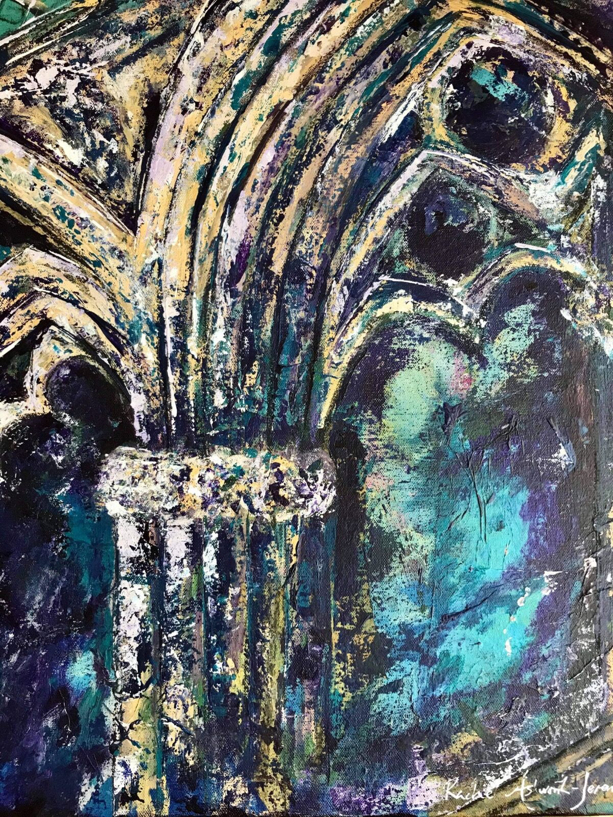 Lincoln Cathedral, Angel Choir, painting