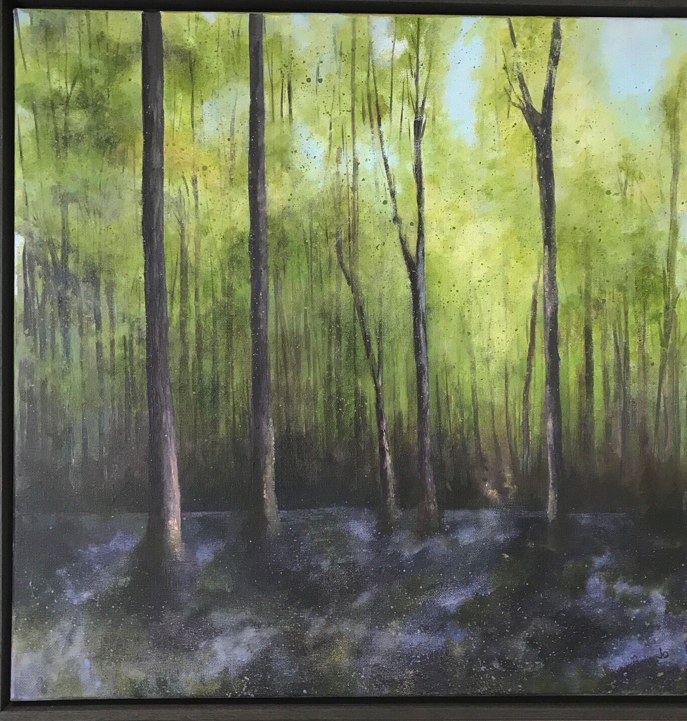 Bluebell Wood painting