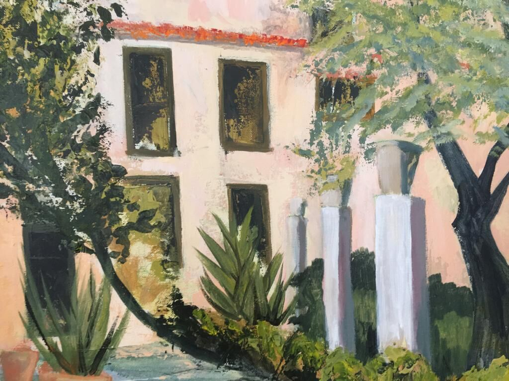 Arab baths Palma painting