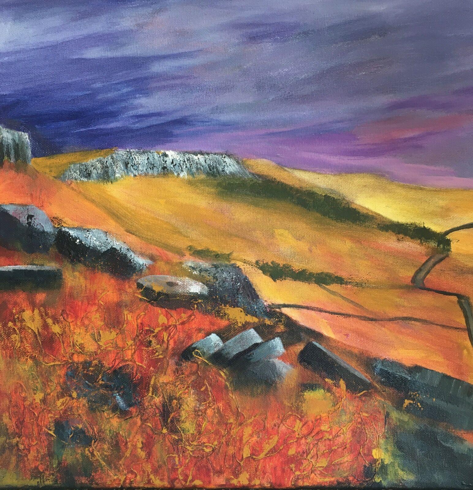 Millstones on Stanage Edge Peak District
