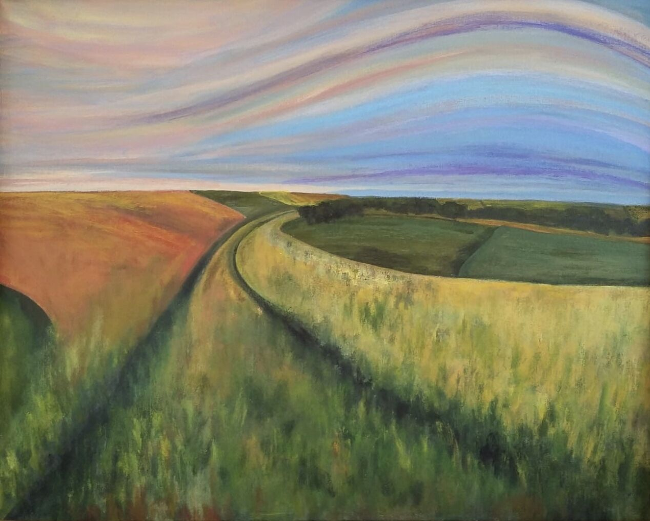 Lincolnshire Wolds painting