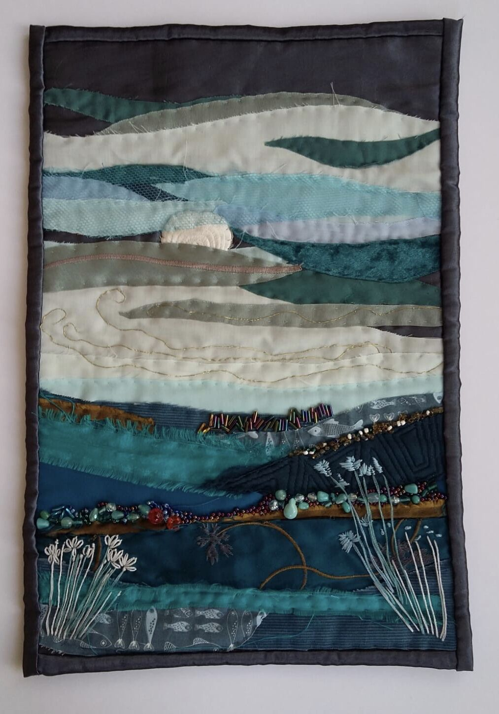 Moonlit applique fields