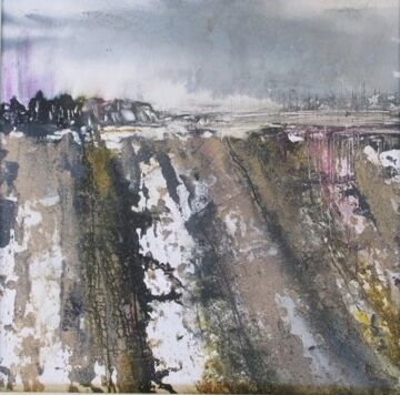 Winter fields painting