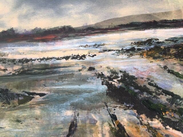 Northumberland coast painting