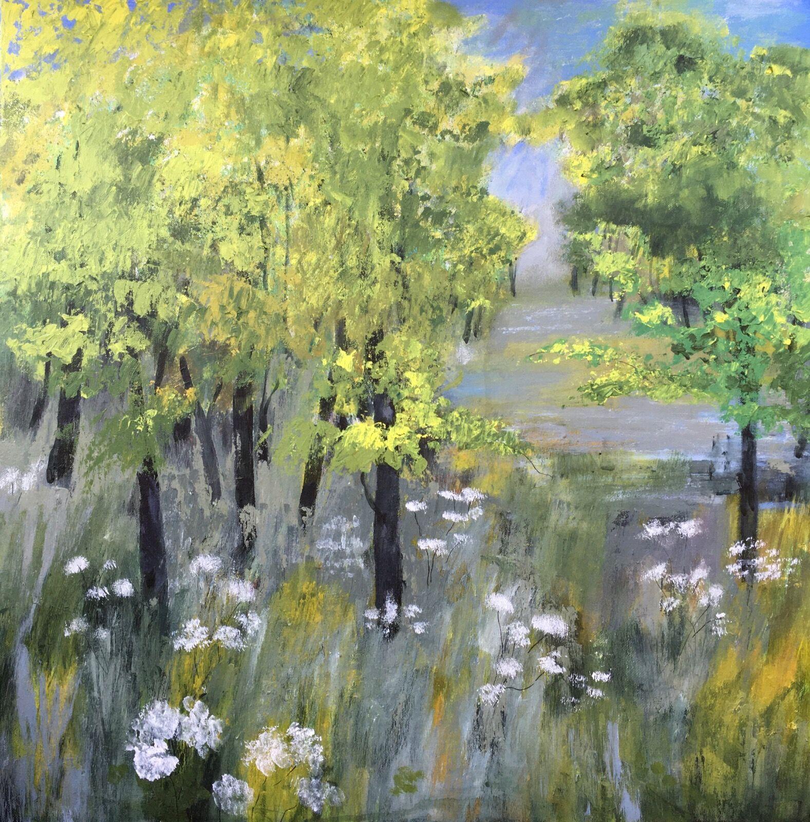 Spring wood painting