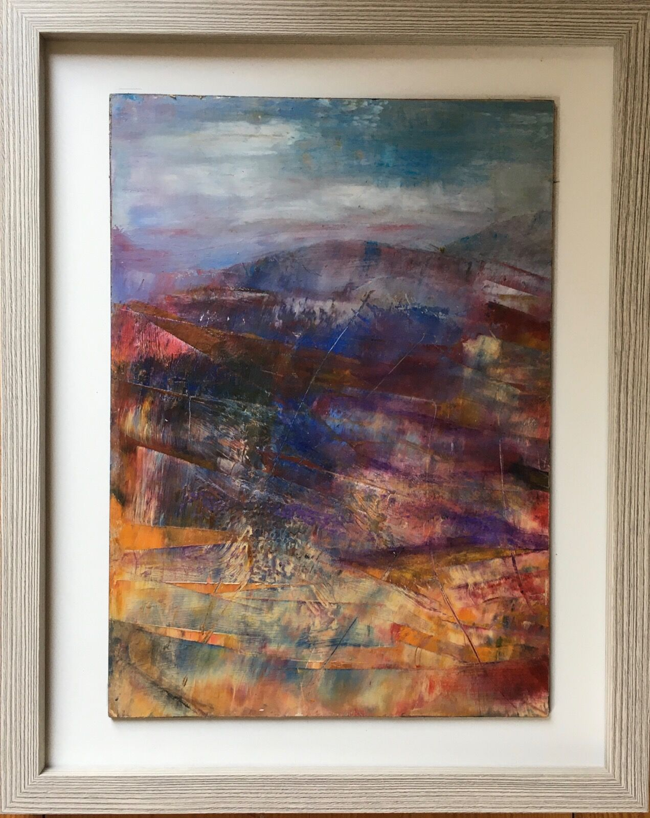 Blue Hills abstract painting