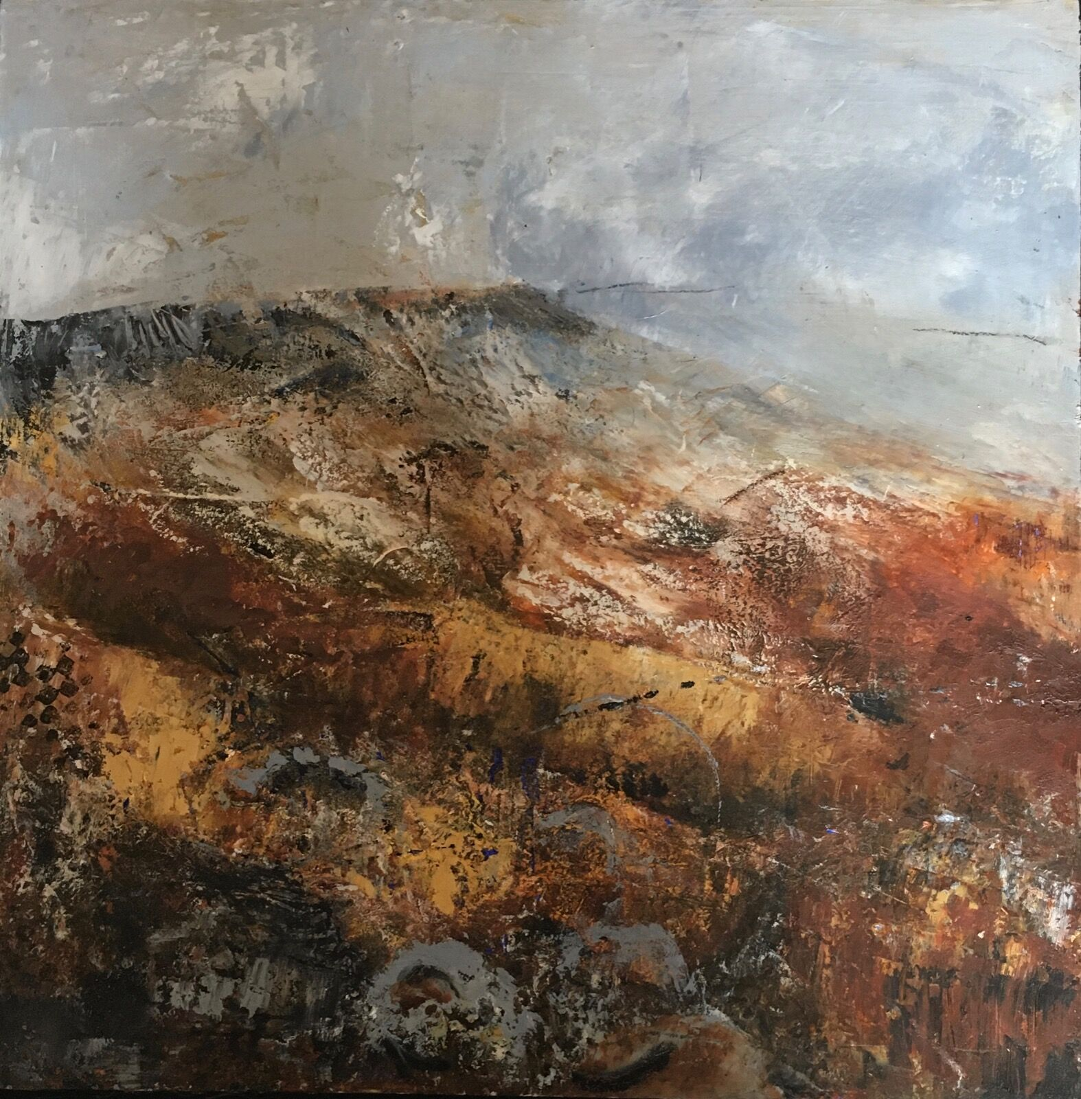 abstract landscape stanage edge