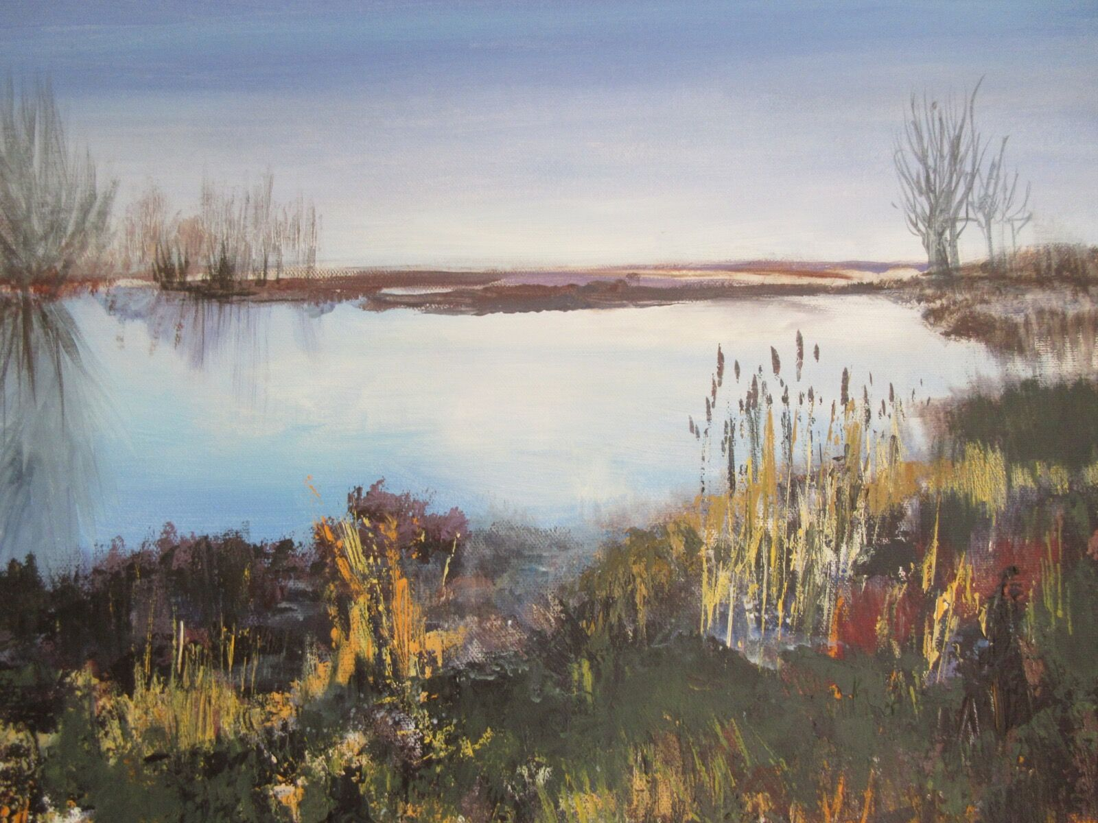 Monks Wood Lake painting