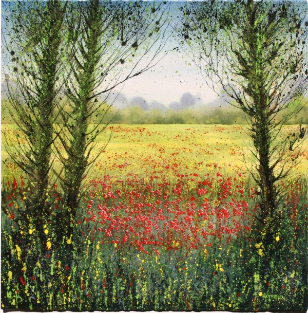 Autumn Field and Poppies