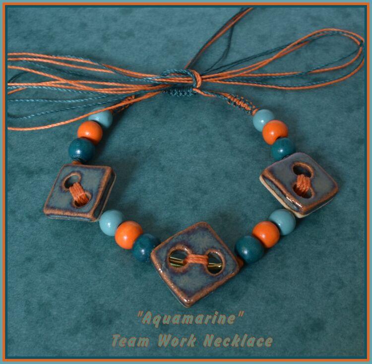 """""""Aquamarine"""" Team Work Necklace"""