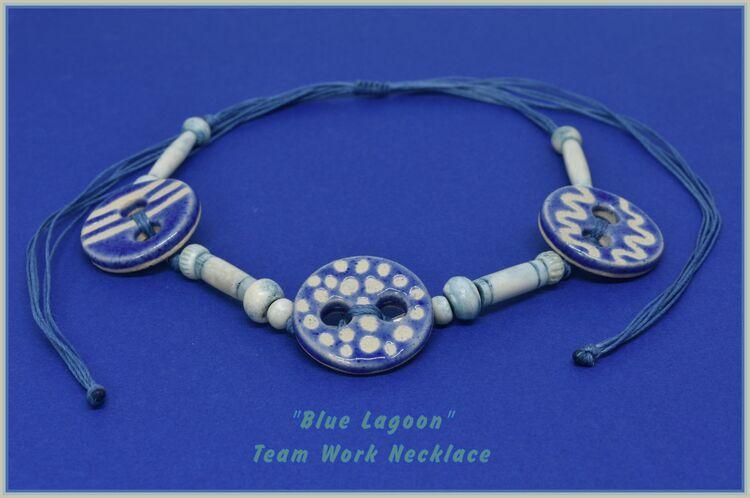 Blue Lagoon Team Work Necklace