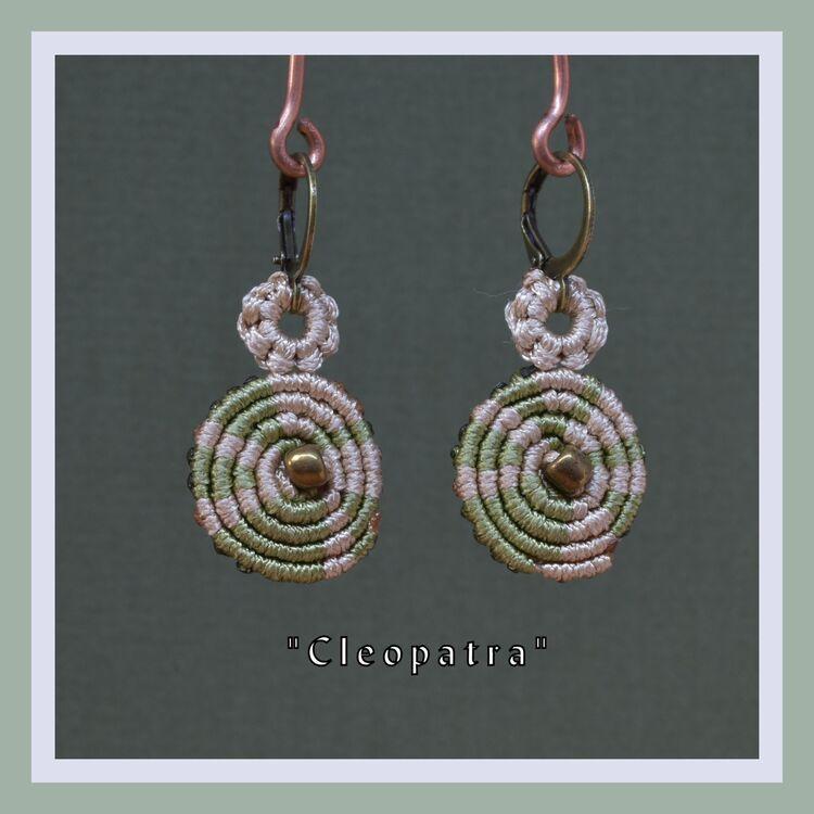 """""""Dianthus"""" macrame earrings ( 16820280)"""