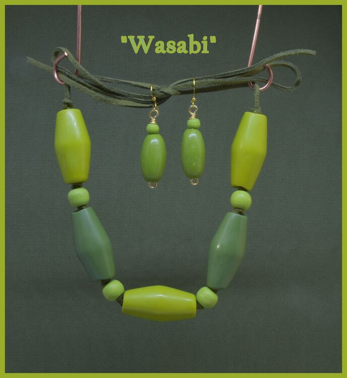 """""""Wasabi"""" Necklace & Earrings"""