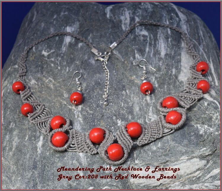 Red, Grey, Necklace, Meandering, Path 16932986