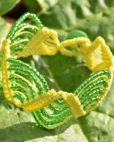 Lemon & Lime Wavy Path Macrame Bracelet