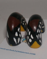 Black & Tan earrings cu