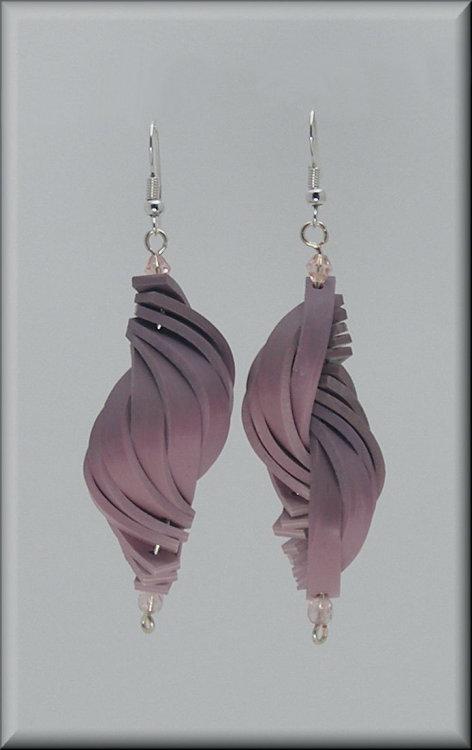 Rose Pink Shell Earrings