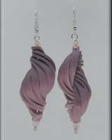 Rose Pink Shell Earrings