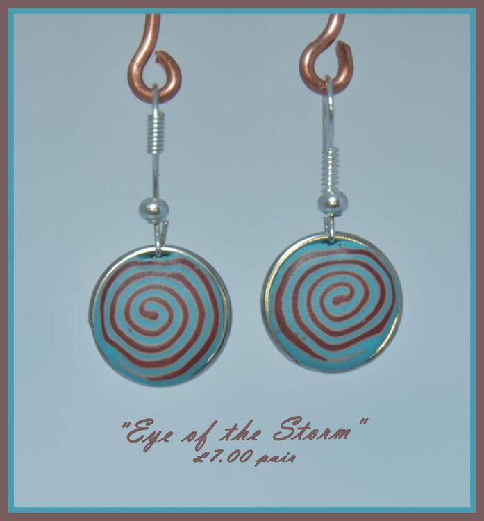 """Eye of the Storm"" earrings"