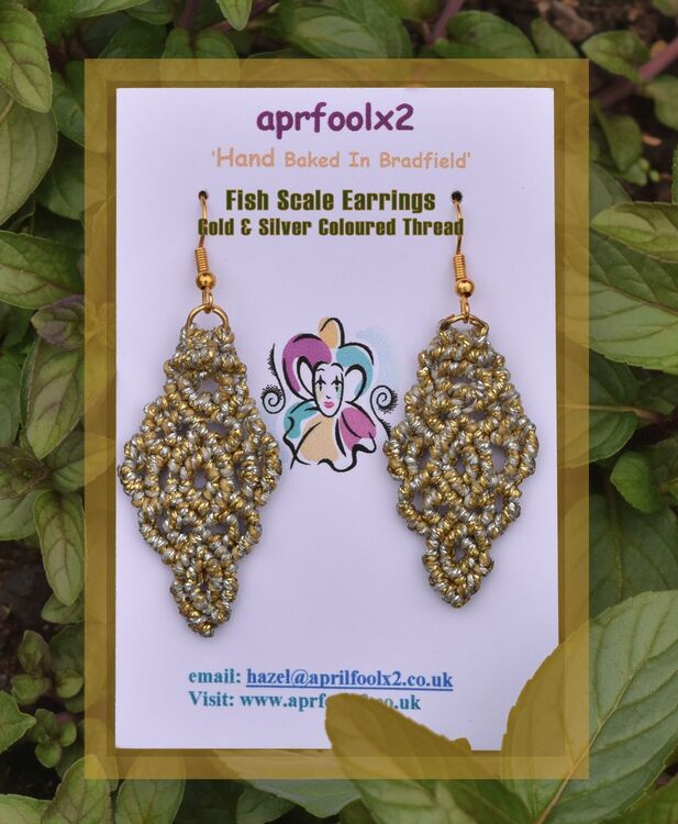 Gold & Silver Colour - Fish Scale Earrings