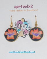 Orange Pansy earrings