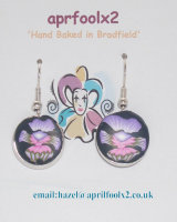 Violet Pansy earrings