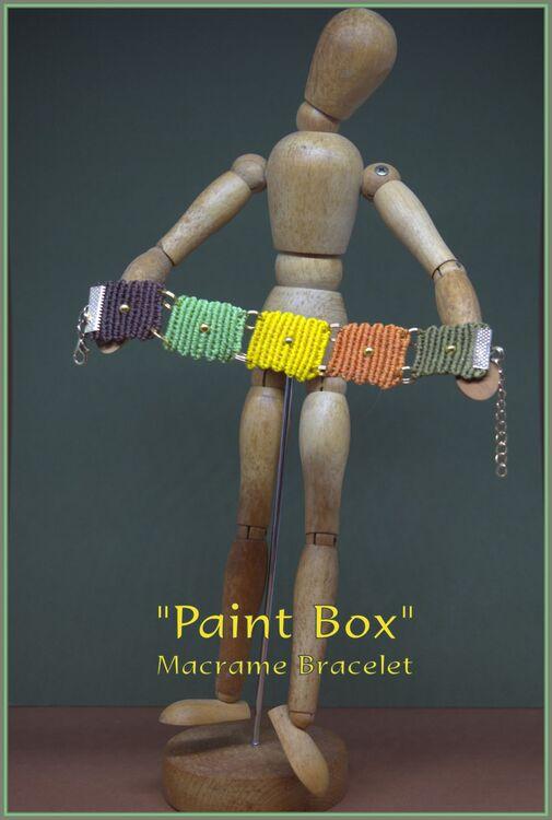 """""""Paint Box"""" Macrame Bracelet"""