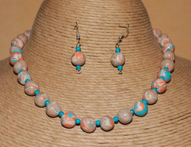 Rock Hopper  Necklace & Matching Earrings