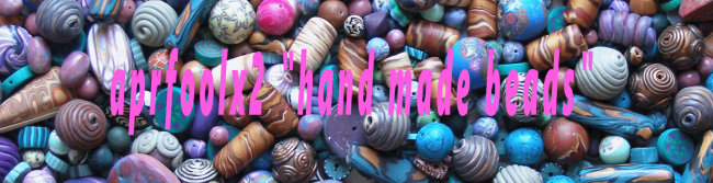 "aprfoolx2  ""hand made beads"" Polymer Clay Artist"