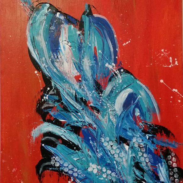 Name - BE BOLD 50cm x 40cm AU$200.00 Acrylic Abstract