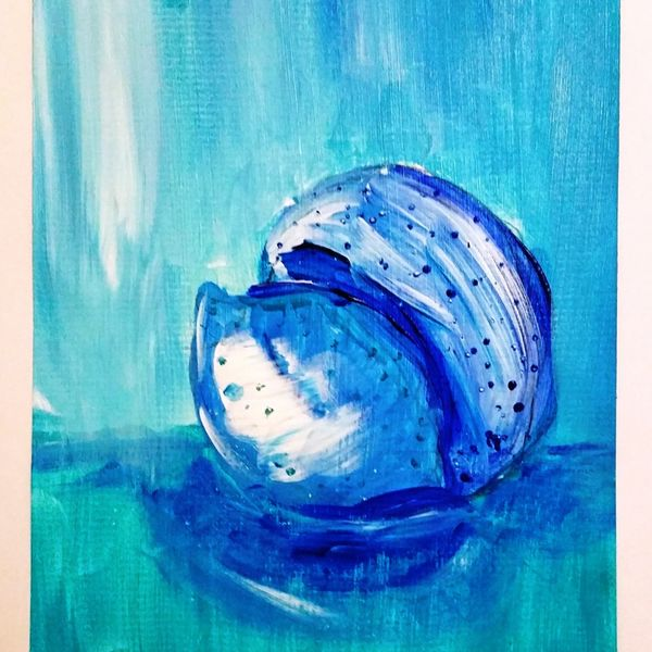 """Blue Fruit is Best series ORANGE AND LEMON 3OF6. $50.00 OR $250.00 FOR ENTIRE SET OF SIX. COMES IN 12""""X16"""" MATT BOARD FRAME AND BACKING BOARD IN CELLOPHANE SLEEVE WITH A4 OPENING."""