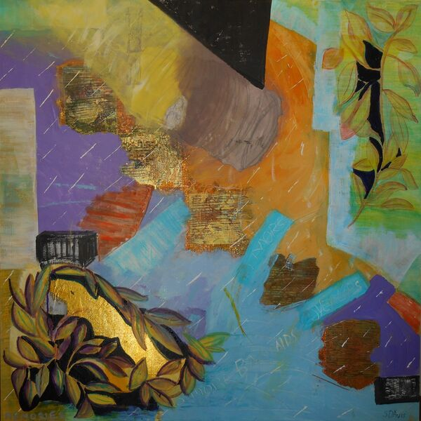 Memories, Mixed Media on Canvas, 36in x 36in, $1500.00