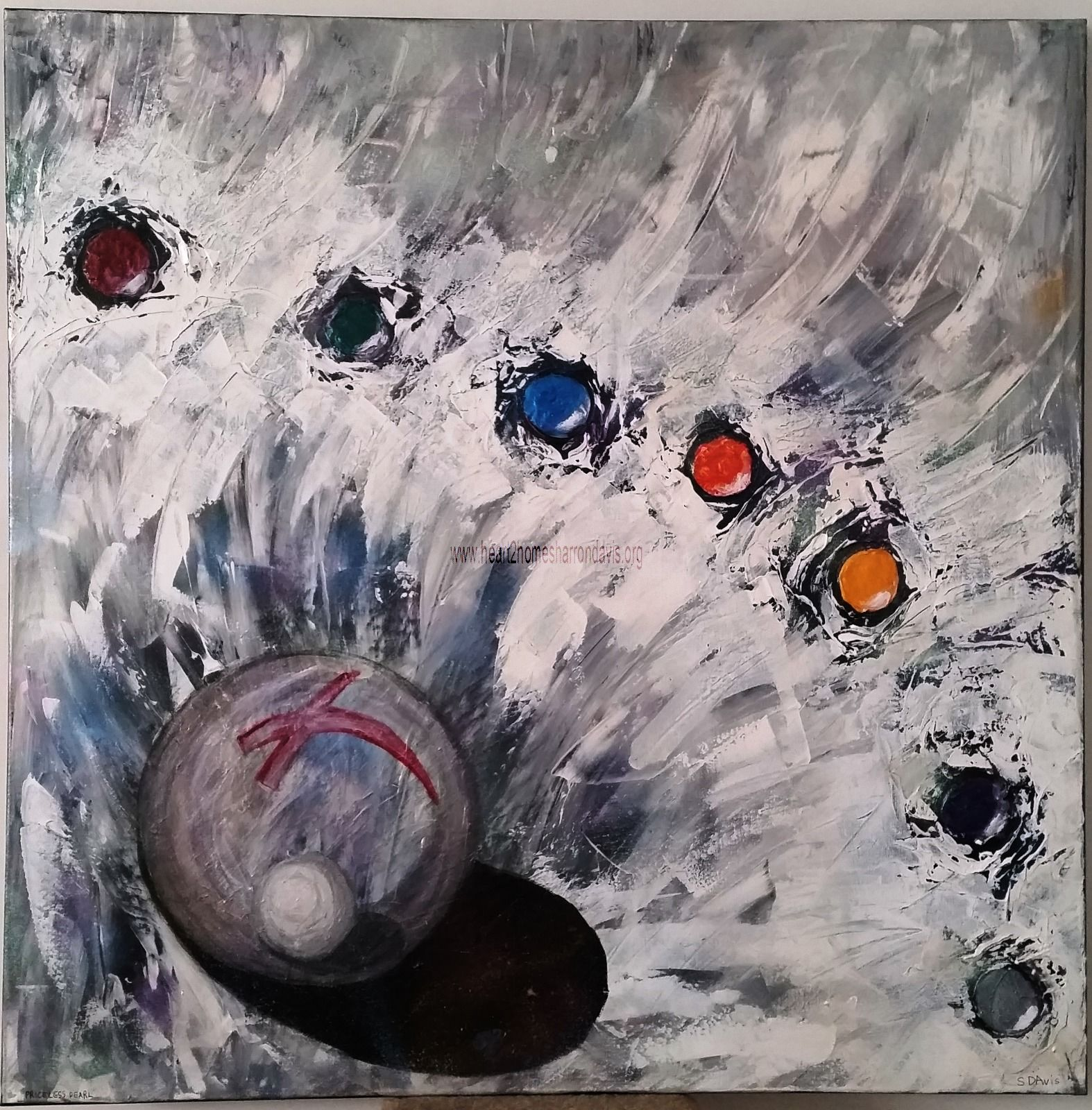 Name - PRICELESS PEARL 120cm x 120cm (48in x 48in) AU$3,000.00 Acrylic