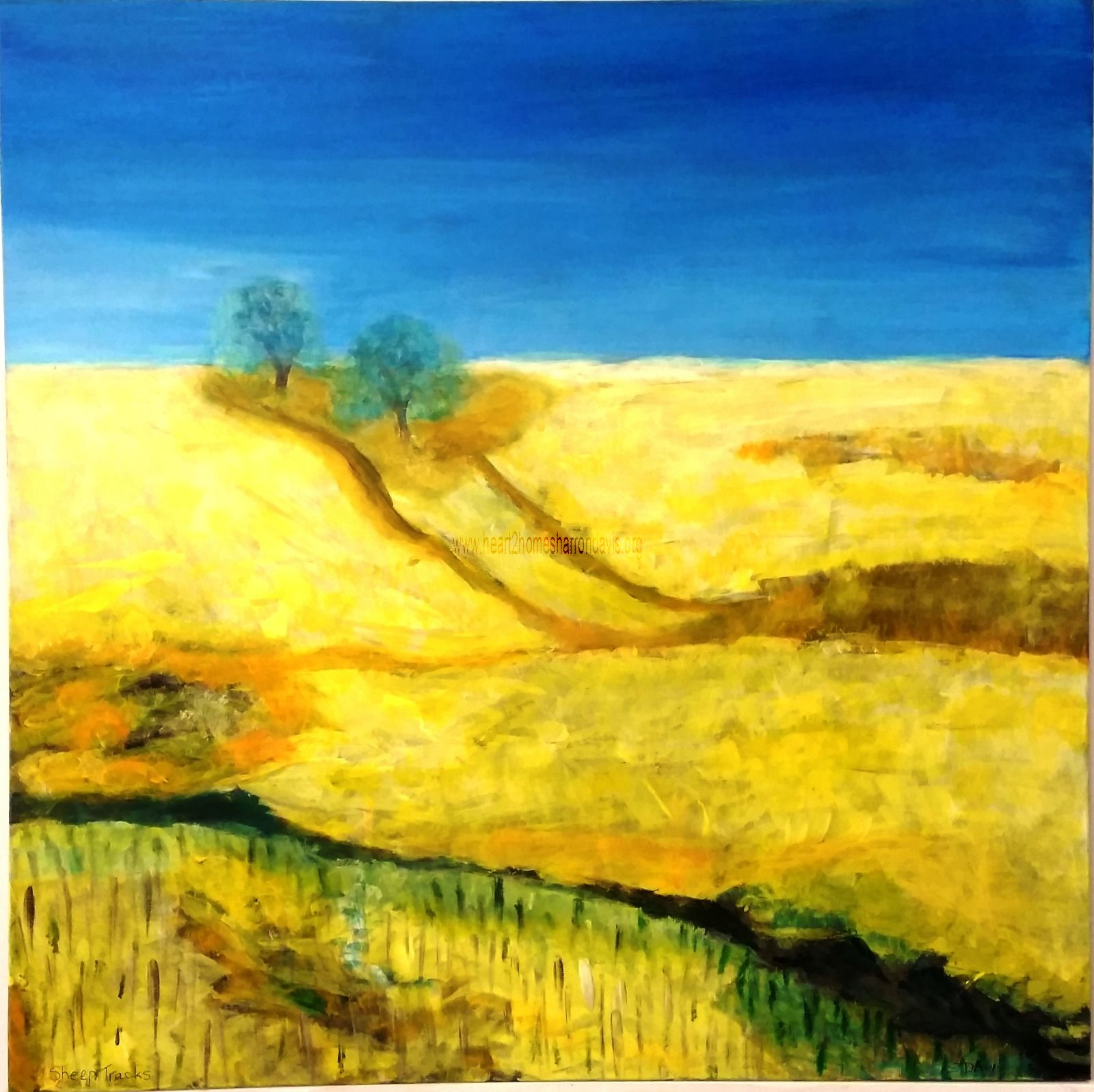 SHEEP TRACKS 36IN X 36 IN ACRYLIC AU$1000.00