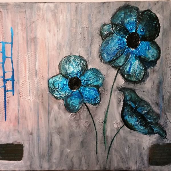 SPRING WILL COME 90cm x 60cm ACRYLIC MIXED MEDIA AU$350.00