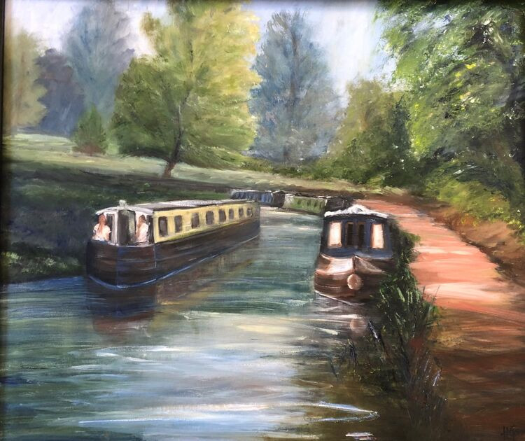 Canal Boats, Kennet and Avon Canal, Bath