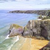 Midday on Bedruthen Steps, Cornwall - SOLD