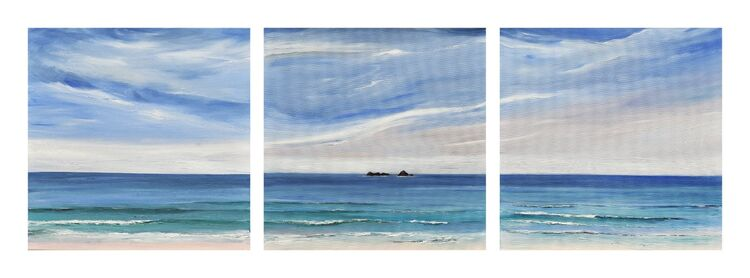 The Bull and Quies off Trevose Head Trytych