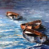 Three Rowing Boats