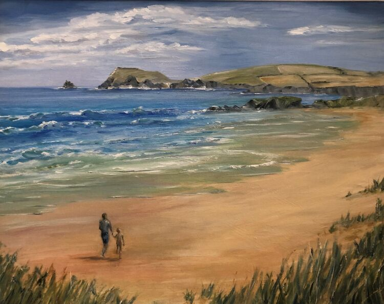 Walking Along Constantine Bay - SOLD