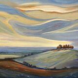 Swirly Skies Over Kelston Roundhill