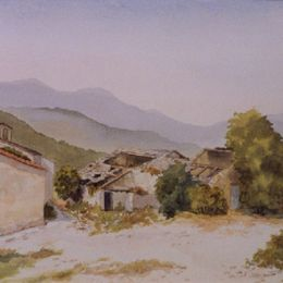 """A Deserted Village in the Tuscan Hills"""