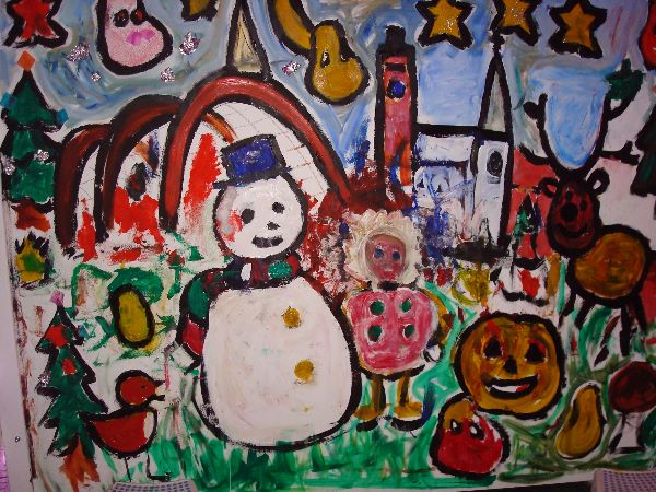 Winter Art CBeebies Painting