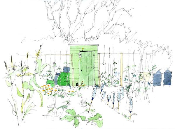 Garden Hut by Bryn Hughes