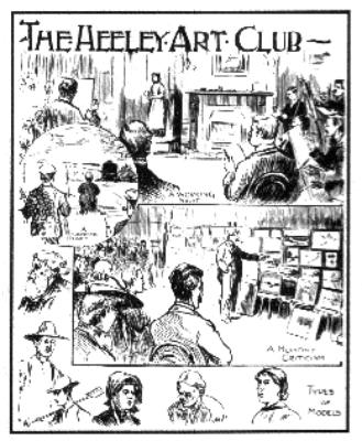Lismer sketch of meeting nights at Meersbrook Vestry Hall circa. 1900