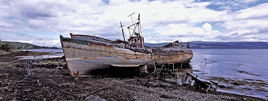 Abandoned fishing Vessels, Isle of Mull