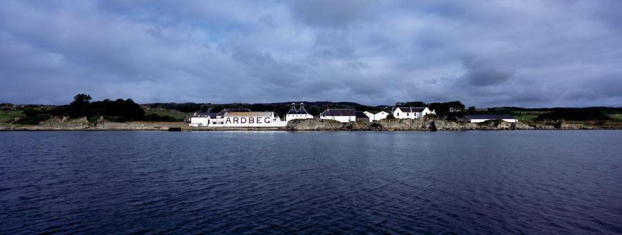 Ardbeg Distillery from the seaside, Isle of Islay