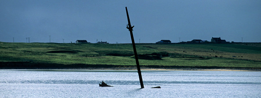 Churchill Barriers, Holm Sound, Orkney Islands